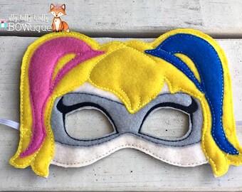 Harley Quinn inspired mask.