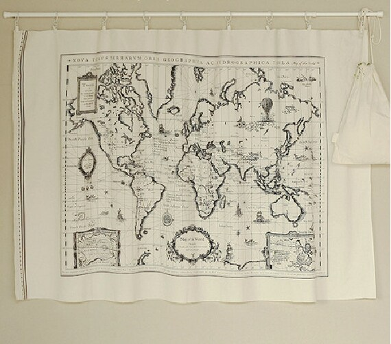 Vintage world map cotton linen fabricmap of the world fabric vintage world map cotton linen fabricmap of the world fabriccurtain fabric bag quilting table runner pillow cover 70145 cm from watermelonbaby2013 gumiabroncs Gallery