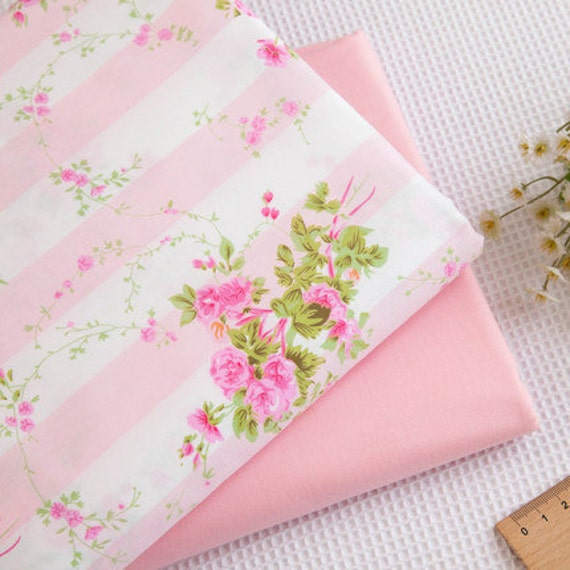 New style pink series fabricpink flower fabric cotton flower etsy image 0 mightylinksfo