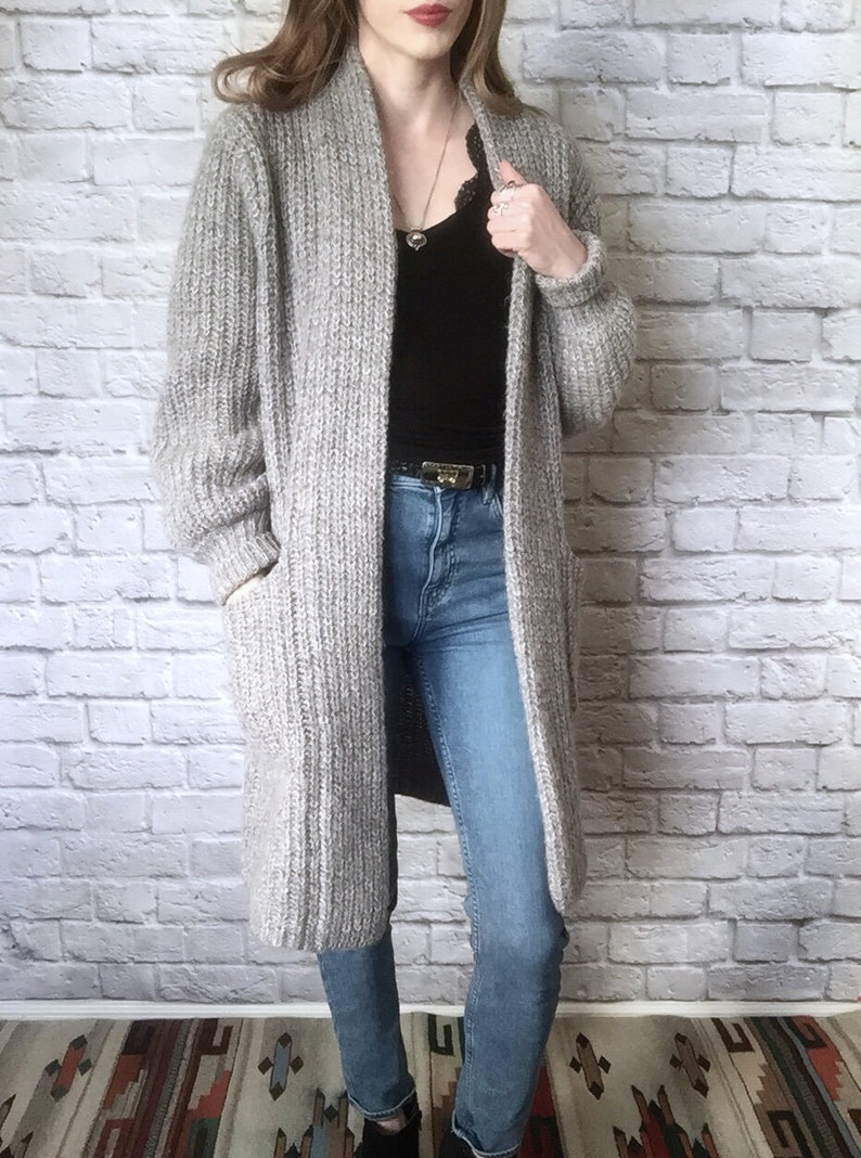 a248260869d44a Vintage Nordstrom POV Sweater / Extra Long Oversize Cardigan /   Etsy