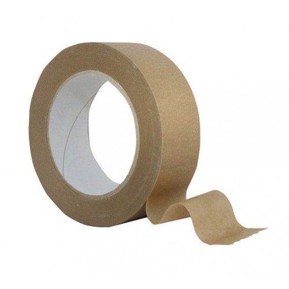 self adhesive brown kraft tape 50m for picture framing etsy