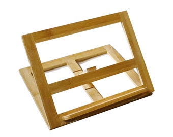 Bamboo Wood Book Stand Style Artist's Table Easel