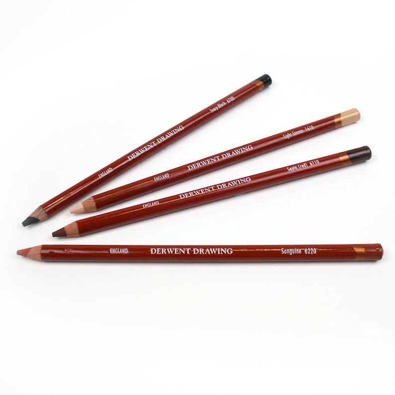 Derwent Professional Drawing Pencils in 24 Soft Natural Colours
