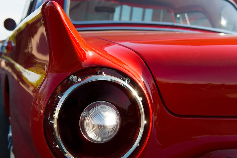1957 Ford Thunderbird Classic Car Detail Photography