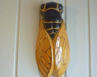 Large wall Cicada vintage french good luck for the home french country decor la cigale french farmhouse french vintage home