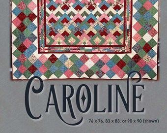 Caroline Quilt Pattern - (Digital) for stash-busting and precuts!