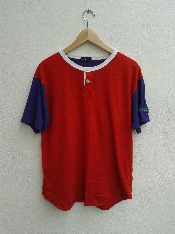 71862c34e ON SALE 25% RARE Polo Sport Ralph Lauren Multicolor Box Logo Vintage 90s  Hip-Hop T-Shirt Mint Size M