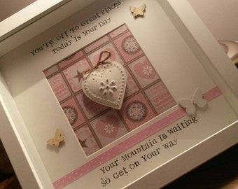 Perfect for New Job / Going Away Framed Personalised Bespoke Heart Gift
