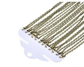 12 necklaces 45cm chain 4mm bronze