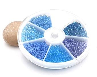 Carousel 2100 blue tones seed beads
