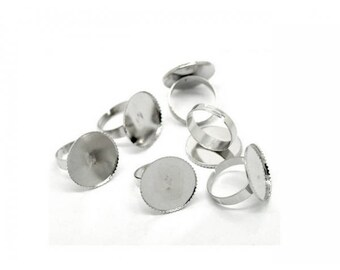 Materials silver plate tray Cabochon 20mm rings 20