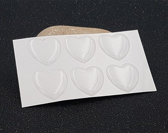 20 cabochons 18mm hearts stickers