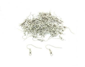 200 gray silver French hooks