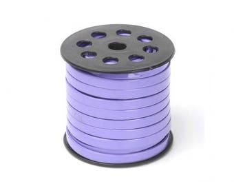 1 m cord faux leather purple 7.5 mm flat