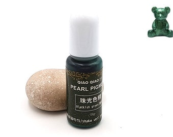 Dark green Pearlescent pigments 15grams color dye