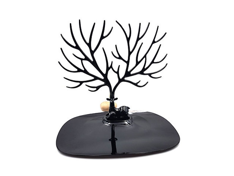 Black jewelry tree with branches display