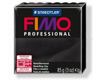 Fimo clay Professional black 9-85gr