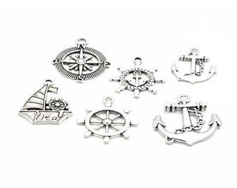 38 charms anchor Navy 6 different designs