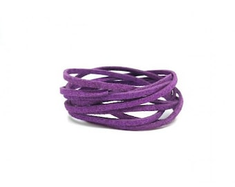 10 m purple 3mm suede cord