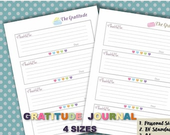 Gratitude journal inserts Thankful grateful blessings count your blessings little agenda inserts pm planner  _ 4 sizes _Any Re-size is FREE