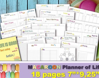project planner life organizer kit and cards plan template etsy