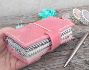 Traveler's notebook cover leather wallet a6 a7 micro tiny nano passport and other sizes _ CHOICE of 16 SIZES and 27 colors