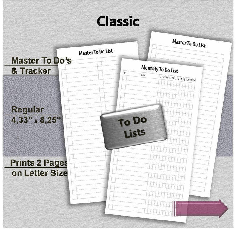 photo regarding Free Printable Traveler's Notebook Inserts named Toward do listing printable laptop planner Midori inserts and Every month Tracker Magazine Travellers PDF RE-sizing for Absolutely free