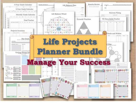 Productivity Planner Pdf Template 2018 Undated Calendar