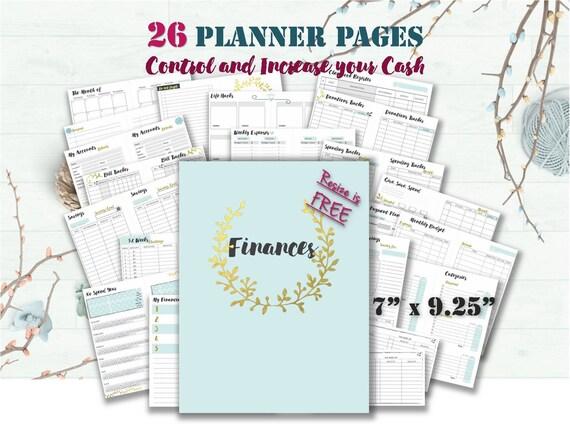 Budget-Planer druckbare Bindemittel froh dass Planer Buch | Etsy