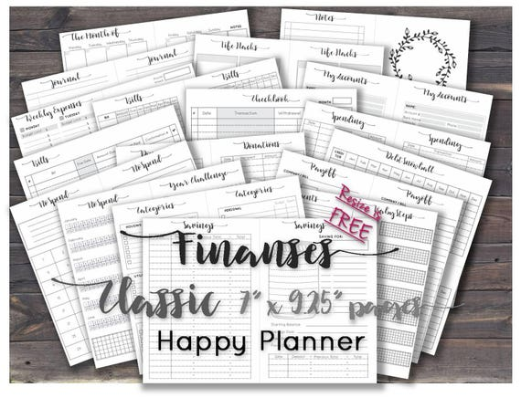 graphic regarding Happy Planner Budget Printable referred to as Pleased planner finances printable inserts clic economic binder printable web pages _ Dimensions 7\