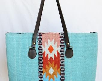 CIELITO LINDO- Hand-dyed and Handwoven Tote Bag