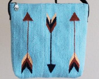 Handwoven and Handyed - Cross body Bag( Arrows)