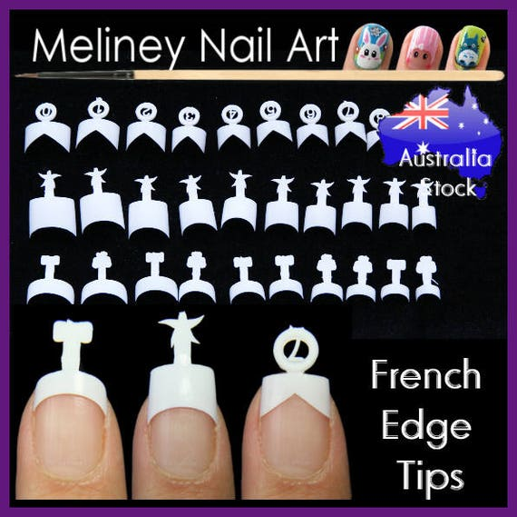 French edge tips Nail Tips False square Shape Manicure Fake   Etsy