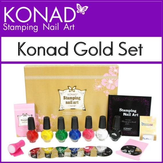 Konad Stamping Sets Stamping Nail Polish Nail Art Stamp Etsy