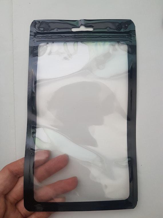 "100pc Silver Clear 3x5/"" Foil Ziplock Mylar Bags-Merchandise Food Storage Snacks"