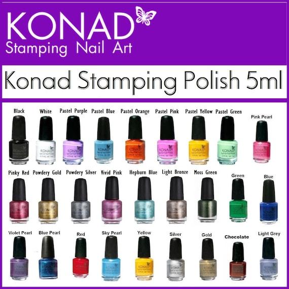 5ml Konad Stamping Nail Polish For Stamping Nail Art Designs Etsy