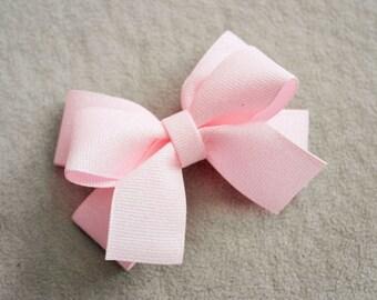 Pink Glitter Hair Bow Clip
