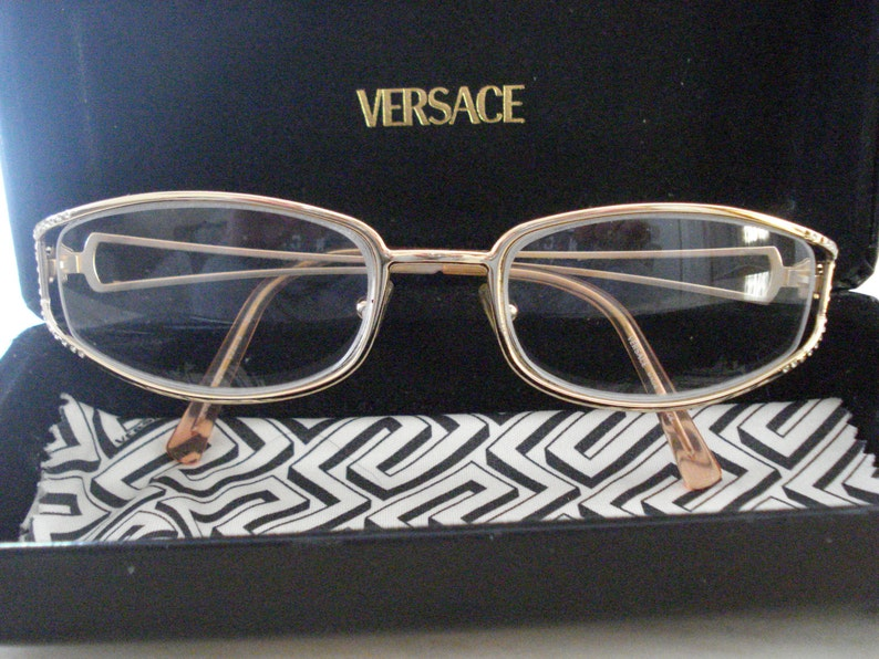 2f4e615cfaaa SALE Vintage GIANNI VERSACE Glasses / Gold Frame with Medusa | Etsy
