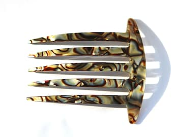 83f4f13fb Onyx Hair Comb Handmade In France Celluloid Tortoise Shell 3 Inches Medium Hair  Clips Hair Sticks Hair