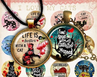 25 SHABBY CHIC   Digital Collage Sheet  circle images 30 18mm digital downloads wedding jewelry 20 scrapbooking bottle caps pendants