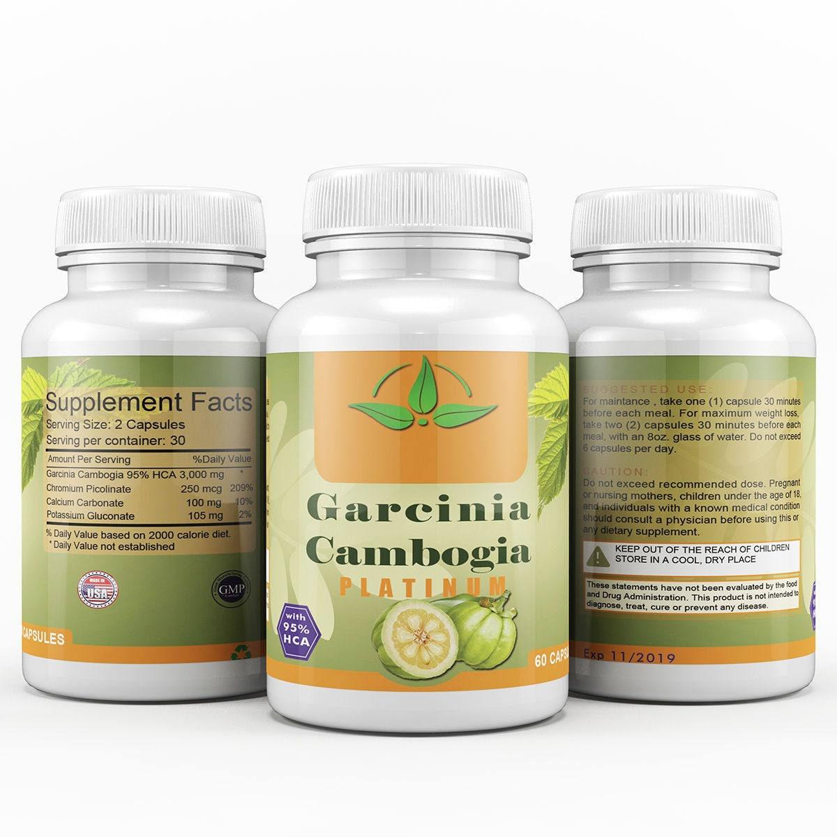Garcinia Cambogia Maximum With 95 Hca 1 Bottle 60 Capsules Etsy