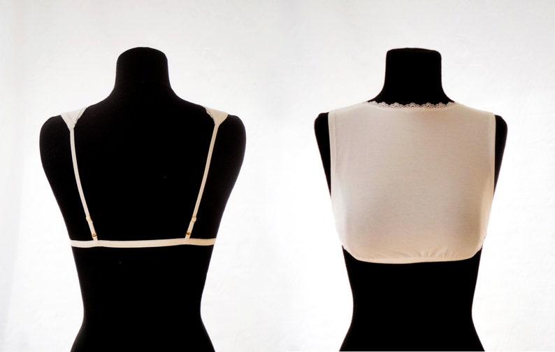 dddc0a98867 Plus Size bralette High cut model Modest bralette Modesty