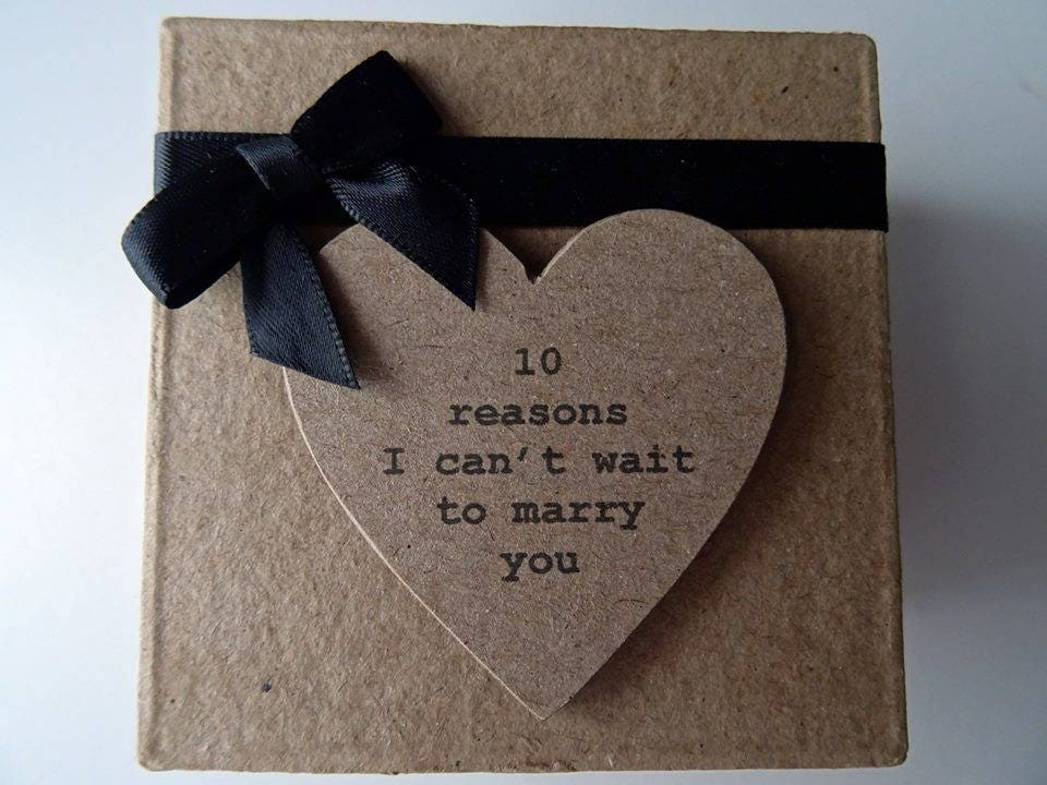 How Much To Pay For A Wedding Gift: 10 Reasons I Cant Wait To Marry You Box In Black. Bride To