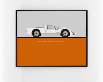 1966 Porsche 906 Carrera 6 print.