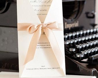 Boxed Satin Bow Wedding Invitations, Wedding invites, Boxed Invitations Wedding Stationery, Luxury Invitations, Luxury Invites