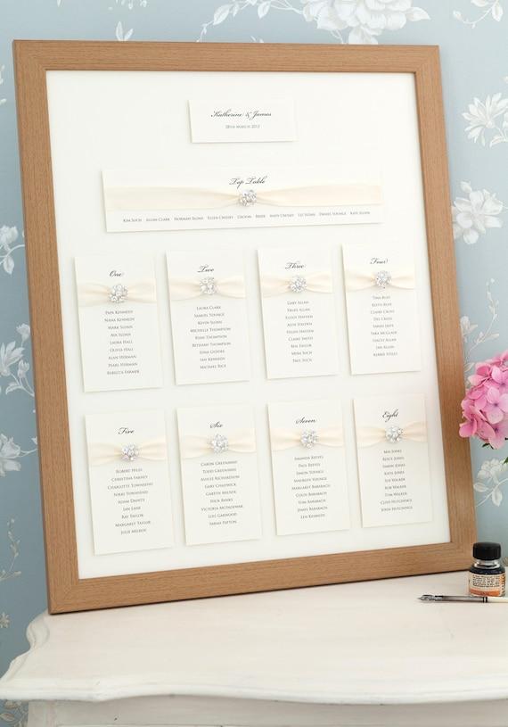 Wedding Seating Plan Table Plan Framed Seating Plan Wedding Etsy