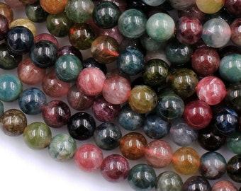 Tourmaline Gemstone Natural Multi Tourmaline Round Ball Beads 4mm Tourmaline Stone Faceted Loose Beads 13 Strand