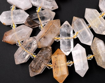Phantom quartz bead pendant