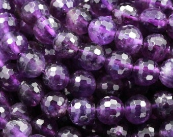 """6X4MM AMETHYST LIGHT GEMSTONE GRADE AA FACETED RONDELLE LOOSE BEADS 15.5/"""""""