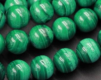 50 Pcs 6-12mm Malachite Plain Round Balls Malachite Beads Natural Malachite Beads RAMA67 16 Inch Malachite Necklace